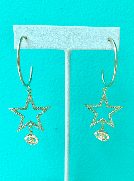 Star of my eye earrings