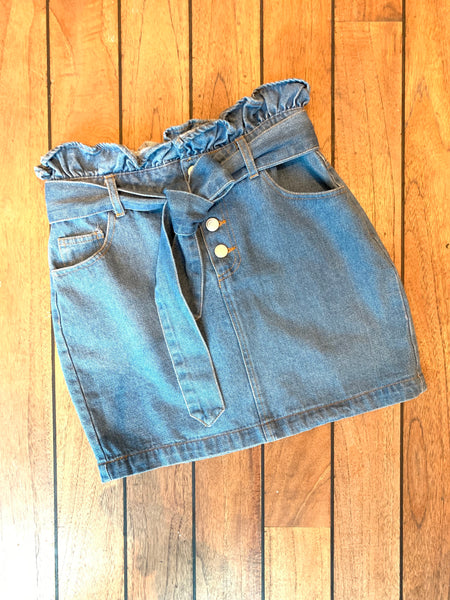 Joli Denim paperbag skirt