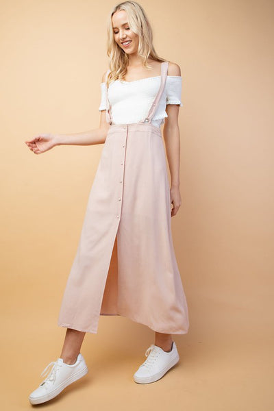 Mila suspender maxi skirt