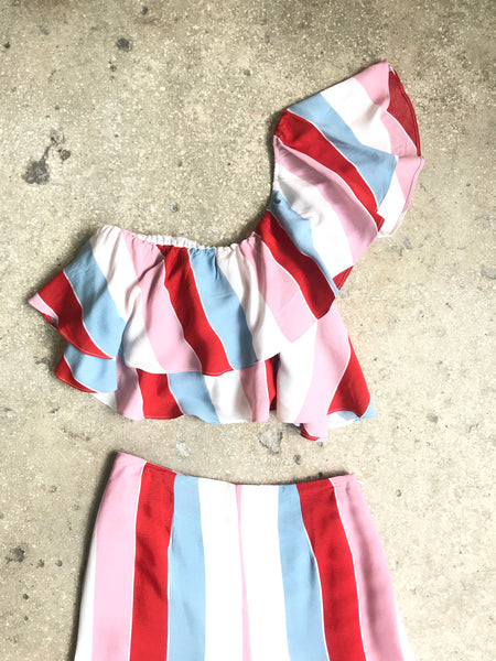 Melani Stripe one shoulder top