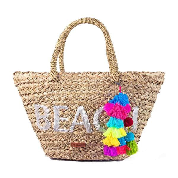BEACH bag color tassel