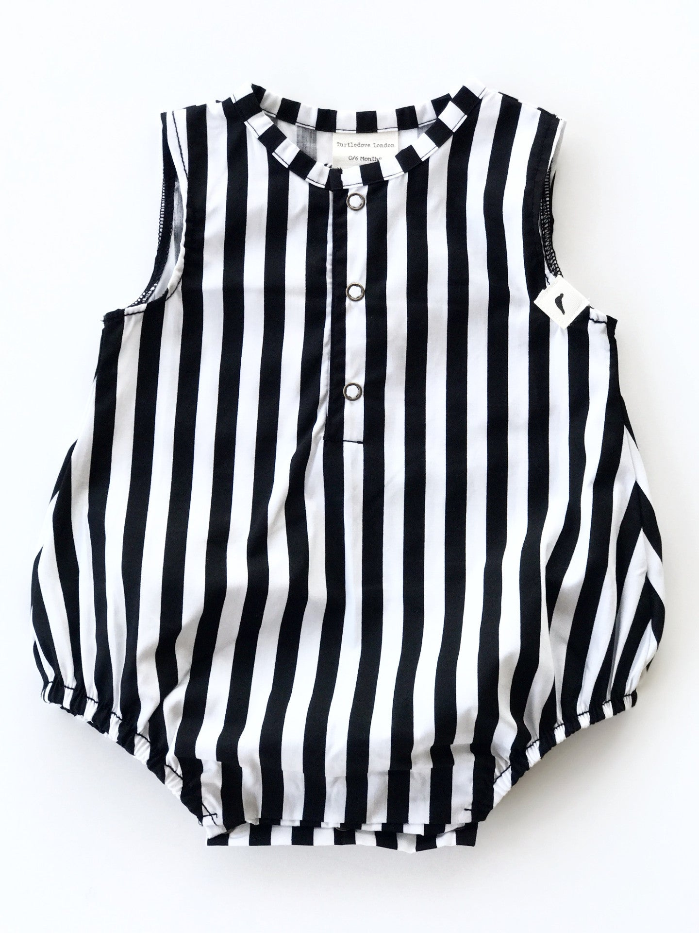 Stripe Bubble Shortie Dungaree Organic