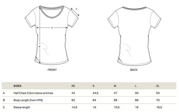 Size Guide Modal Tee