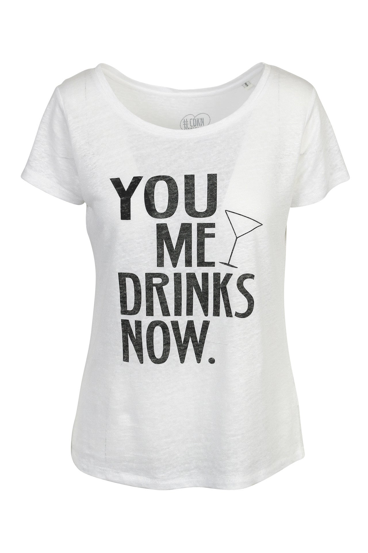 You. Me. Drinks. Now. - Linen tee
