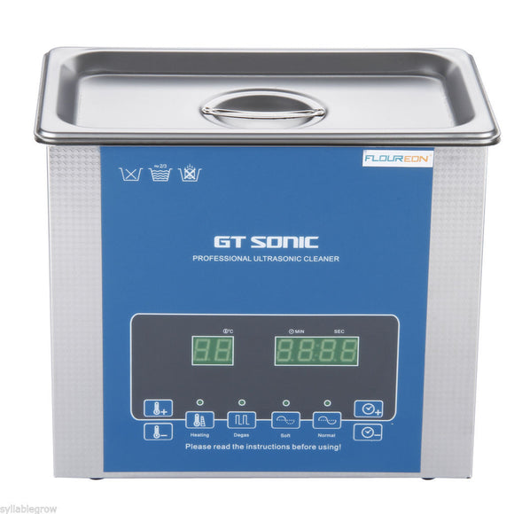 Ultrasonic Cleaner / bath - Professional - with Degasing (3 L) -  Dental Ultrasonic Cleaners
