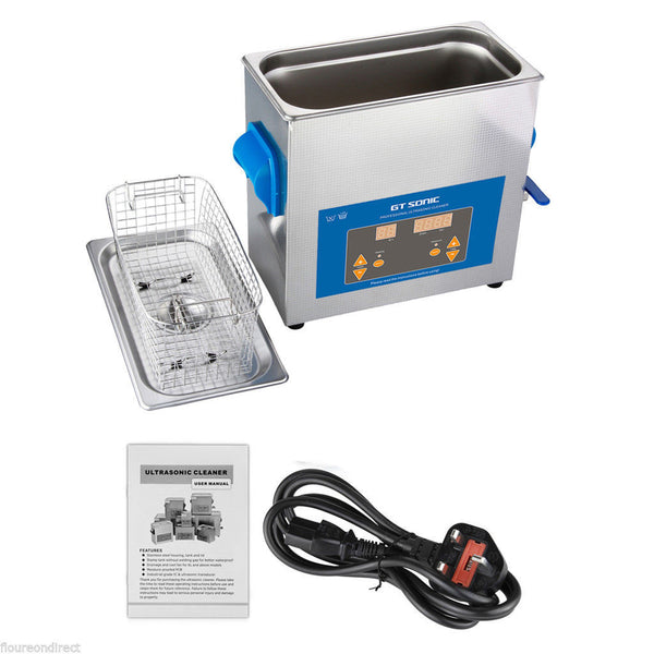 Ultrasonic Cleaner | Professional dental | digital | 6Ltr - Cleaners & Degreasers Dental Ultrasonic Cleaners
