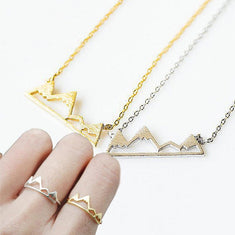 Mountain Peak Necklace and Ring Set