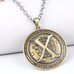 X-Men Logo Shield Pendant Necklace