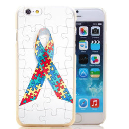 Autism Awareness Puzzle Ribbon iPhone Case