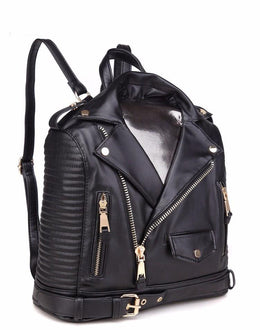 Leather Moto Jacket Backpack