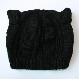 Cat Ear Knit Hat Beanie
