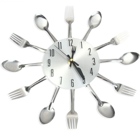 Cutlery Kitchen Wall Clock