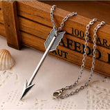 Arrow Long Chain Pendant Necklace