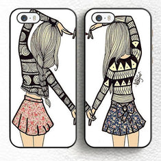 BFF Best Friends Couple iPhone Cases