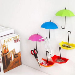 Colorful Umbrella Wall Hooks - Set of 3