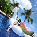 Giant Rainbow Inflatable Unicorn Pool Float