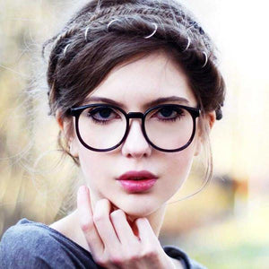 Vintage Dapper Round Clear Lens Glasses