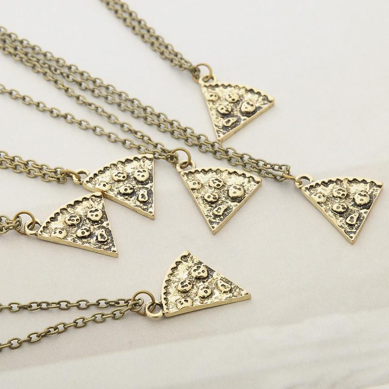 pizza friendship necklace set of 6 iwisb