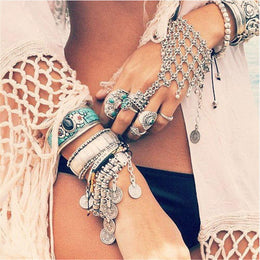 Boho Chain Aged Silver Handlet