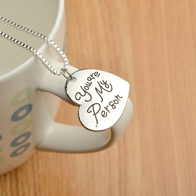 Grey\'s Anatomy Merchandise - You are My Person Heart Necklace – IWISB