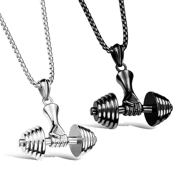 Ready to Lift Dumbbell Necklace