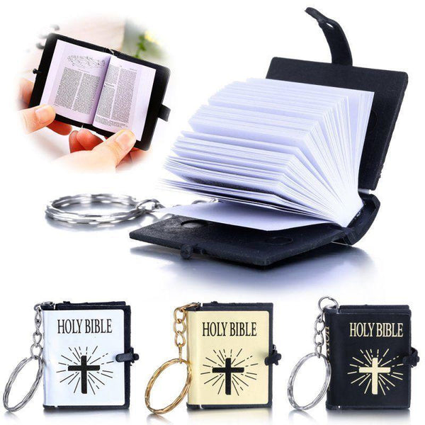 Miniature Holy Bible on Keychain