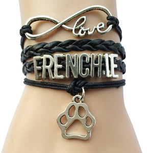 Frenchie Infinity Love Bracelet