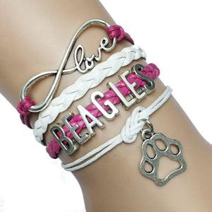 Beagles Infinity Love Bracelet