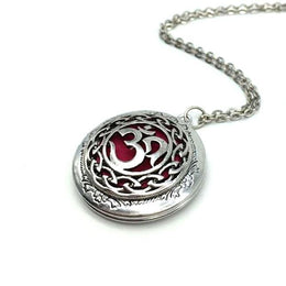 Om Essential Oil Diffuser Locket Necklace