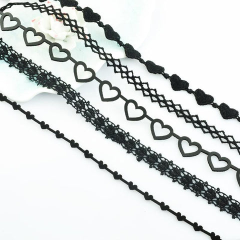 Black Lace Heart Choker