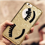 Flirting Eyes iPhone Case