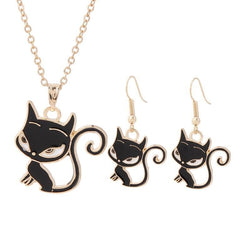 Cute Cat Jewelry Set