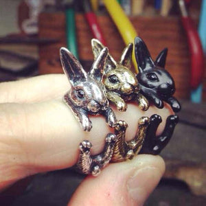 Bunny Rabbit Wrap Ring