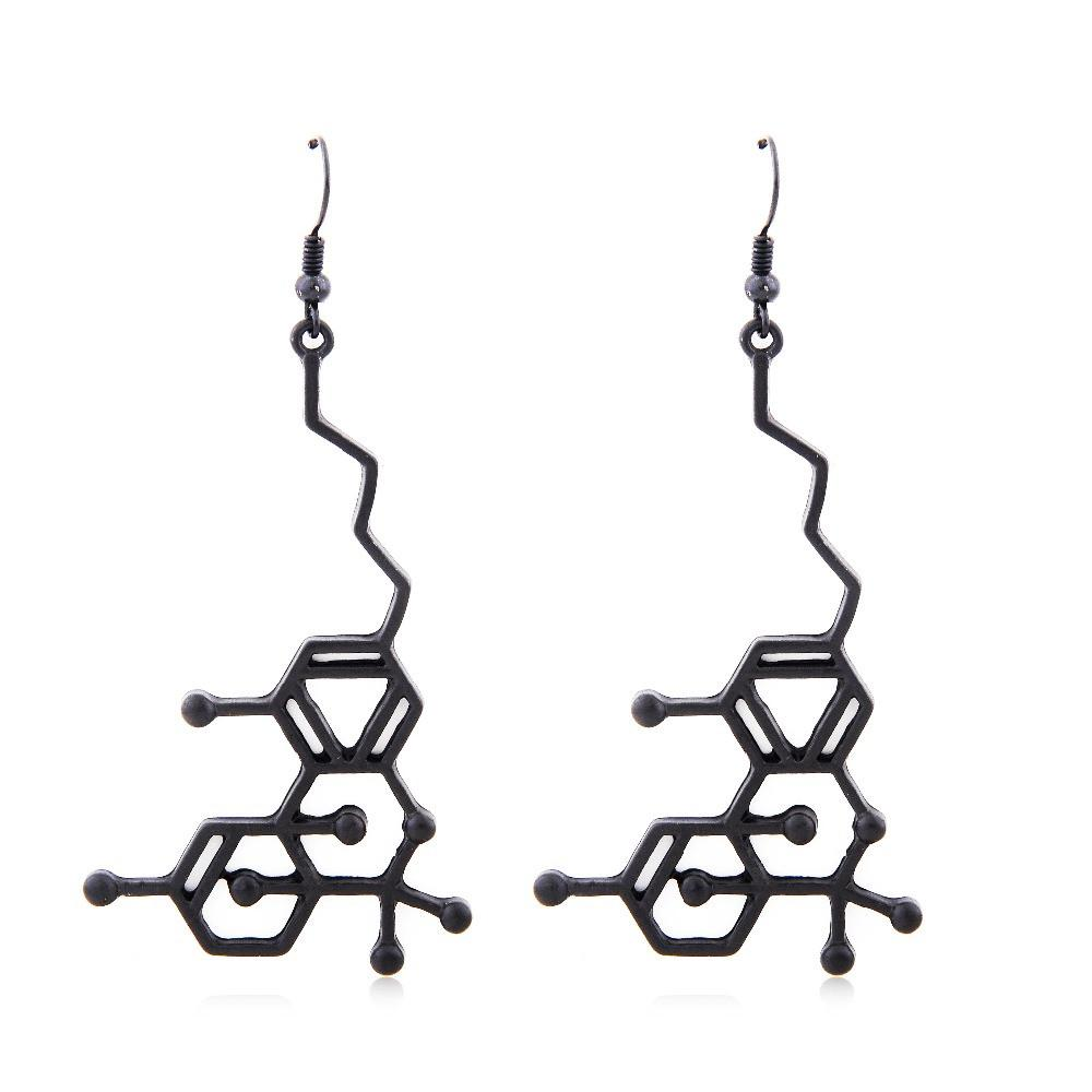 THC Molecule Earrings