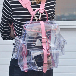 Clear Crystal Transparent Backpack