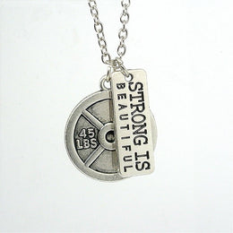 Strong is Beautiful Fitness Necklace