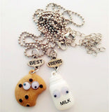 Cookie and Milk Best Friendship Necklaces for 2
