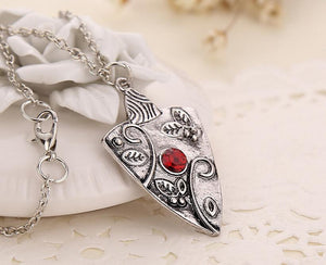The Vampire Diaries Bonnie's Garnet Bennet Family Amulet Necklace