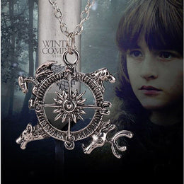 Game of Thrones Intro Theme Crest Pendant Compass Necklace