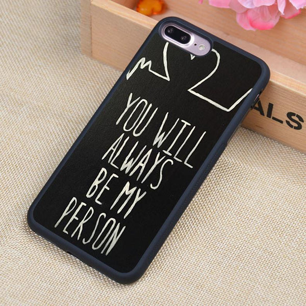 Grey's Anatomy You Will Always Be My Person iPhone Case