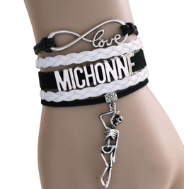 The Walking Dead Michonne Infinity Love Bracelet