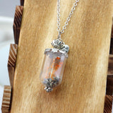 Supernatural Inspired Dried Flowers Necklace