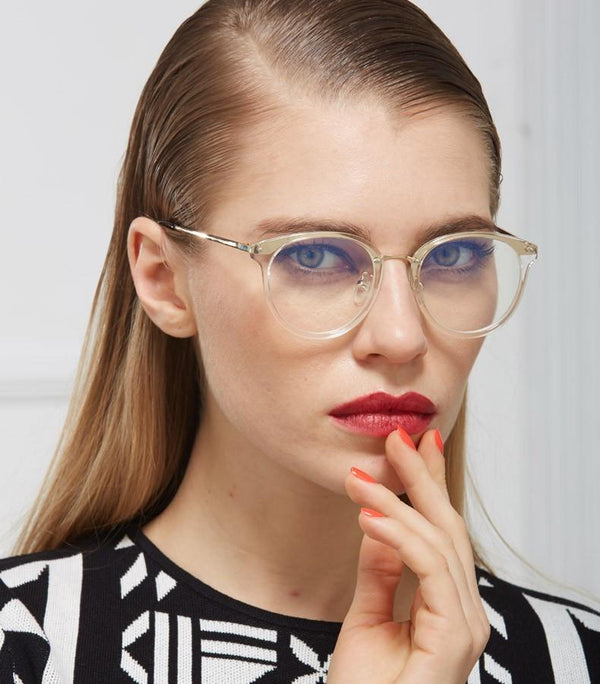 transparent frame clear lens glasses
