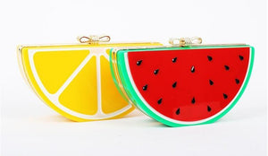Fruit Lemon Watermelon Clutch