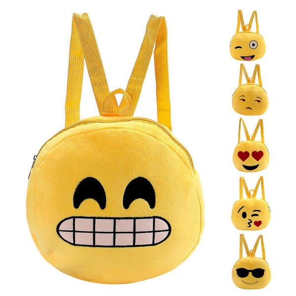 Emoji Plush Backpacks for Kids