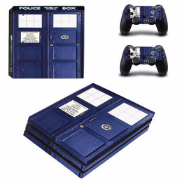 Doctor Who Tardis Sony PS4 Pro Console Skin Sticker