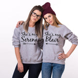 Gossip Girl She's My Serena She's My Blair BFF Matching Sweatshirts