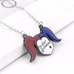 Suicide squad harley quinn daddy 39 s lil monster necklace for Harley quinn and joker jewelry
