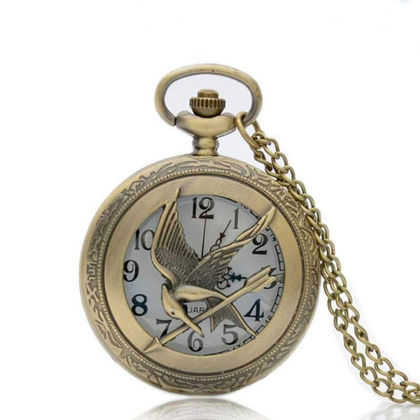 Hunger Games Mockingjay Necklace Pocket Watch
