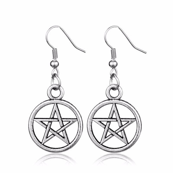 Supernatural Pentagram Earrings